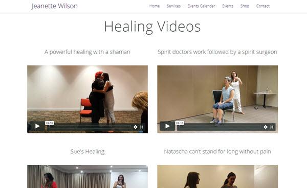 jeanette wilson healing videos